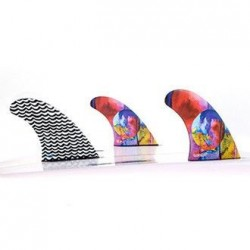 GORILLA tri quad fin set boitier FUTURES Medium