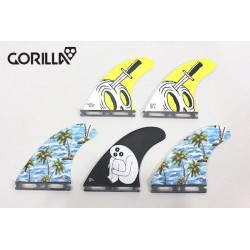 GORILLA tri quad fin set boitier FUTURES Large