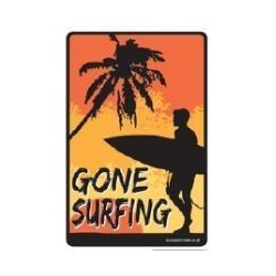 PLAQUES METAL SURFPISTOL Gone Surfing Boy