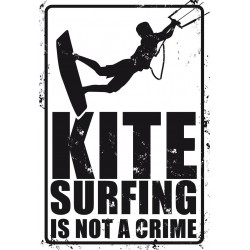 PLAQUES METAL SURFPISTOL KITESURFING IS NOT A CRIME