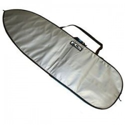 Housse surf FCS basics classic funboard silver tarpee.