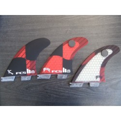 FCS II MB thruster PC carbon Large Rocket Red retail fins